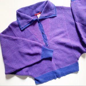Halston III-• vintage retro purple dolman pullover